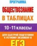 Обществознание в таблицах. 10-11 классы: справочные материалы / Баранов П.А. -М., 2012. - 187 с.