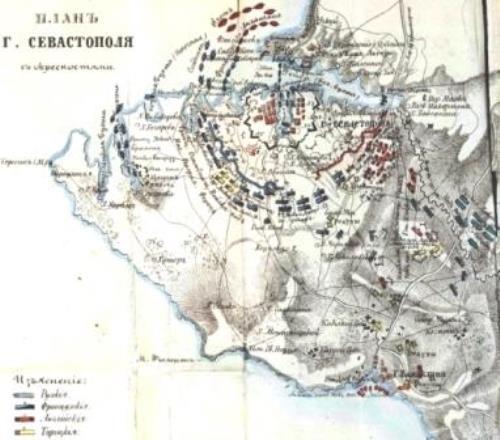 План осады Севастополя в 1854