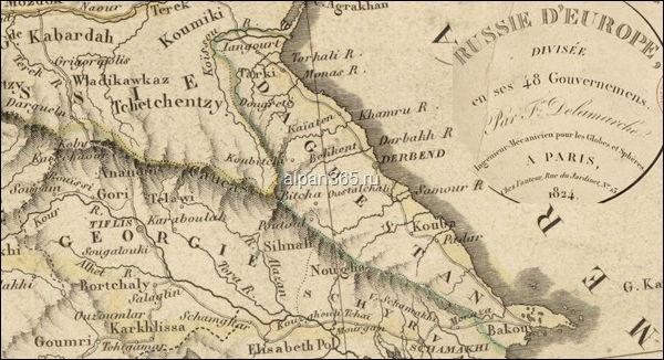 Карта Восточного Кавказа