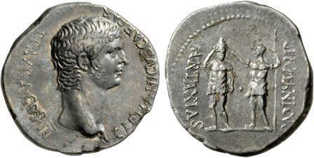 бронзовые монеты с изображением сцены инвеституры осроенского царя