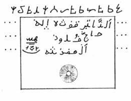 Рис. 3. Письмена на камне пира Хаджи Зенги Буба, село Куруш.