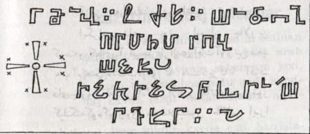Алупанское эпиграфическое письмо из Кудкашена (прорисовка)