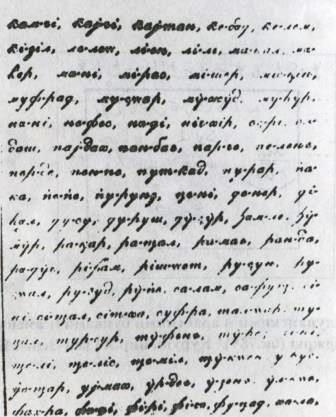 Письмо на кюринской графике