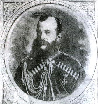 Наместник кавказский великий князь Михаил Николаевич. Рис. П. Бореля, гравюра И. Матюшина