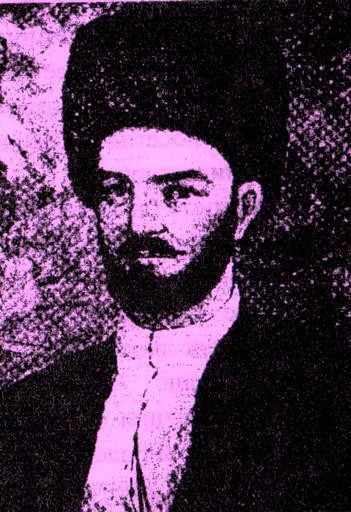 Первый вариант портрета Етима Эмина (воссоздан А. Азизовым)