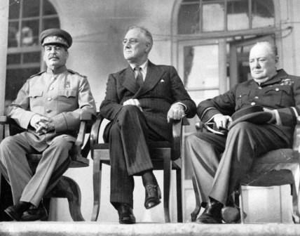 Тегеранская конференция. И. В. Сталин, Ф. Д. Рузвельт и У. Черчилль / wikipedia.org