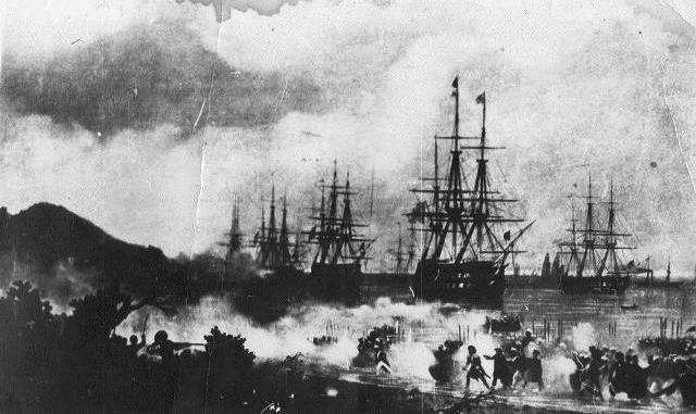 Высадка российского десанта на Абхазский берег. 1840 год (картина Айвазовского)