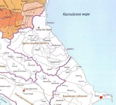 Восточный Кавказ 1871 год